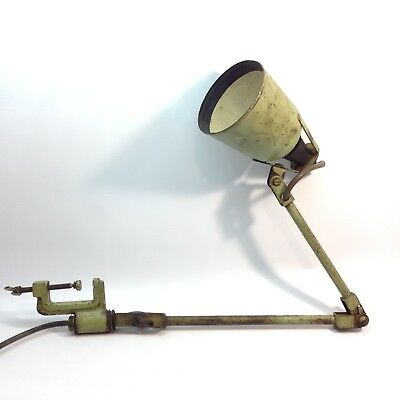 Excellent Vintahe Industrial Lamp Clamp On