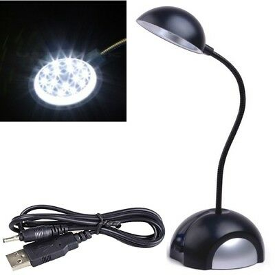 USB Flexible Reading LED Light Clip-on Beside Bed Desk Table Lamp Book Light New