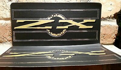 "ZX 6""x12"" License Plate Tag STICKER lot vtg Chroma Graphics laser 1980s Japanese"