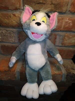 "Mattel Arco 1993 Tom & Jerry Cat Plush TOM Doll Toy 15"" Soft & Clean Movie vtg 1"