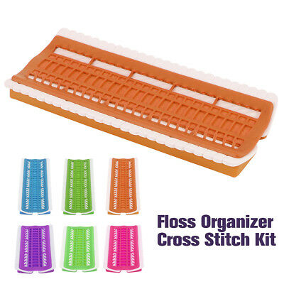 30/50 Positions Floss Organizer Cross Stitch Kit Thread Project Tool PVC Holder