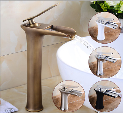 Durable Multi Bathroom Waterfall Single Hole Basin Faucet Vanity Sink Mixer Taps