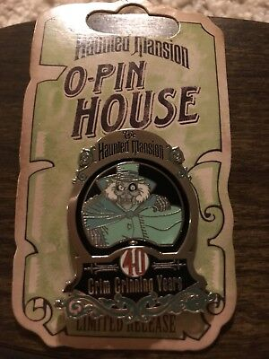 Disney Haunted Mansion O-Pin House Pin 40Th Anniv Hatbox Ghost Spinner Ltd Rel
