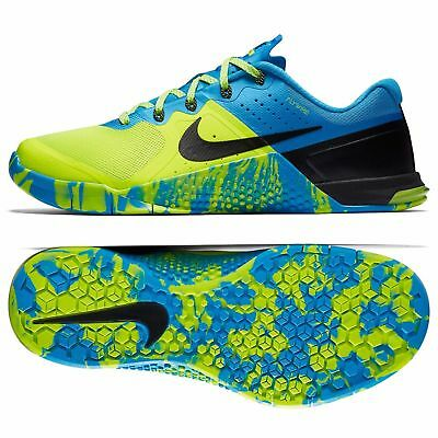 c8931bbc7881 Nike Metcon 2 Amplify AMP Training Shoes 819902-704 sz 9 Volt Blue Glow  Black