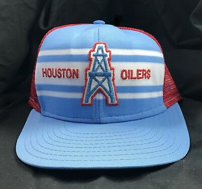 Vtg Sports Specialties Snapback Trucker Patch Houston Oilers Cap Hat 70s 80s 8b4f59090f5