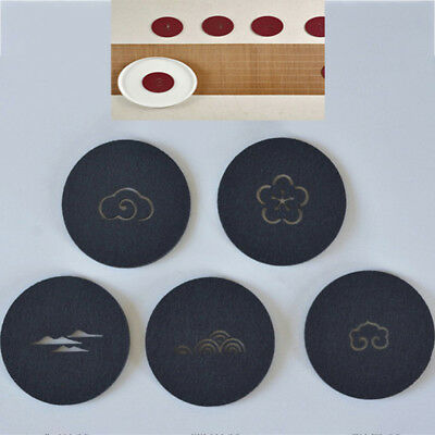 10Pcs Round coasters drink placemats plain coffee wine cup mat tea craft flat SR