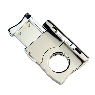 1pcs COHIBA Stainless Steel Cigar Cutter With Cigar Punch Scissors Cutting Knife