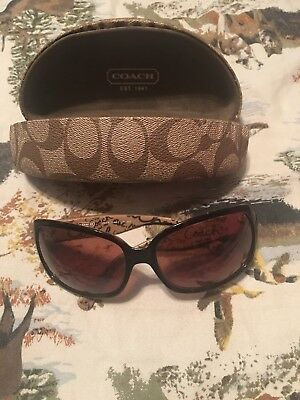a6b67a2efccff COACH BELLE S461 Tortoise Sunglasses Brown With Swarovsky Crystals ...