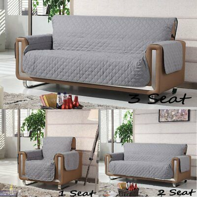1/2/3 Seater Couch Stretch Sofa Seat Lounge Protector Cover Waterproof Slipcover