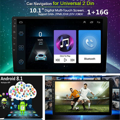 """Android 8.1 2Din 10.1"""" HD Quad-Core Car Stereo MP5 Player GPS Wifi Mirror Link"""