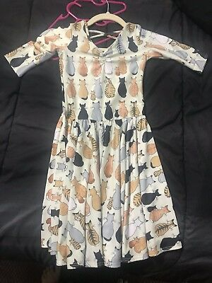 Hard To Find Rare Vintage Size 7 Ballerina Cat Dot Dot Smile Dress