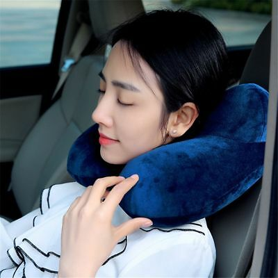 1pc Inflatable U Shaped Travel Pillow Car Rest Air Cushion Portable Neck Pillow