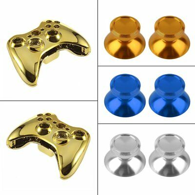2 x Aluminum Alloy Metal Analog Thumbstick Cap For PS4 Xbox One Controller #~T