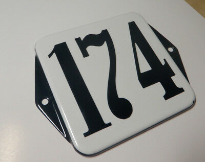 French Enamel Address Plaque, Reclaimed, Architectural Salvege