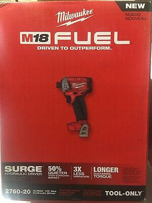 """Milwaukee 2760-20 M18 FUEL SURGE 1/4"""" Hex Hydraulic Driver Cordless Only Tool"""