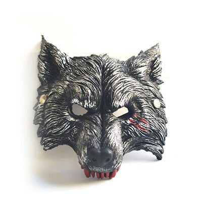 Halloween Werewolf Mask Adult Half face Wolf Mask for Costume Storybook Mask