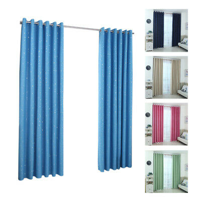 Modern Blackout Window Curtains for Living Room Bedroom Stars Curtain Door C9A8