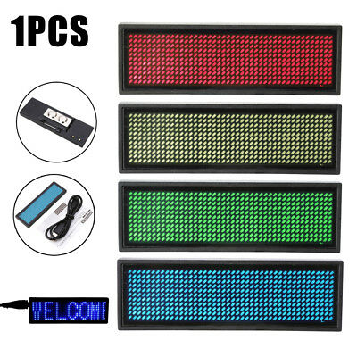 LED Programmable Scrolling Name Message Badge Tag Digital Display Badge Sign Set