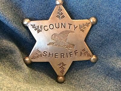 Nice Old West Badge ' County Sheriff '- western * cowboy * novelty* SASS
