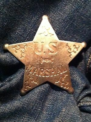 Nice Old West Badge ' U S Marshal'- * western * cowboy * novelty*