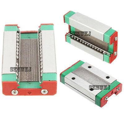 Steel MGN12H Linear Sliding Block 46x27x10mm for MGN12 Linear Guide CNC XYZ DIY