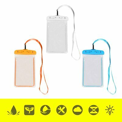 Outdoor Waterproof Phone Bag Phone Case With Neck Strap For Swimming Surfing ~