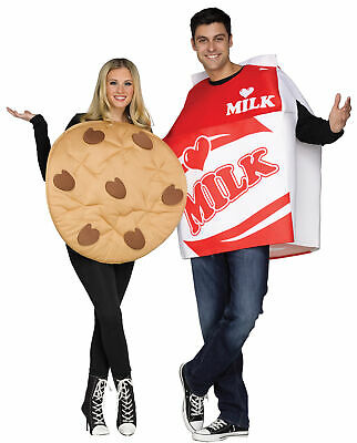 Cookies & Milk 2 Costumes FW130754, White/Red/Brown, One Size