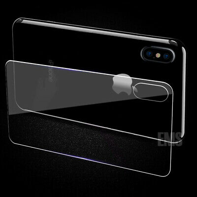 Back Rear Tempered Glass Screen Protector Apple iPhone X XS XS Max XR 7 8 Plus