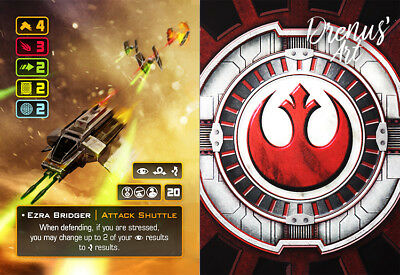 X-Wing Miniatures - Custom Alt Card - Ezra Bridger (Attack Shuttle)