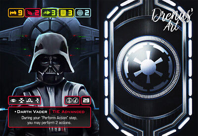X-Wing Miniatures - Custom Alt Card - Darth Vader (TIE Advanced)
