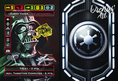 X-Wing Miniatures - Custom Alt Card - Darth Vader (TIE Advanced X1 + ATC)