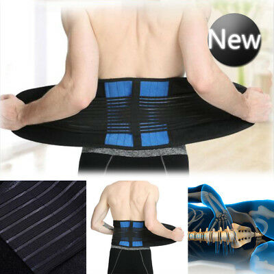 Adjustable Neoprene Double Pull Lumbar Support Lower Back Belt Brace Pain Relief