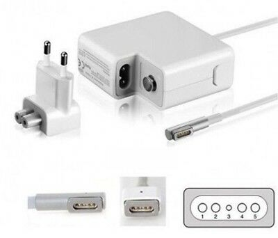 "Alimentatore Magsafe 60W Per Apple Macbook Pro "" Compatibile "" Air E Pro Laptop"