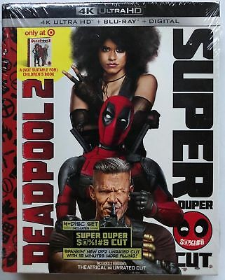New Deadpool 2 Super Duper Cut 4K Ultra Hd Blu Ray Digital Target Exclusive Book