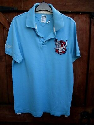 Hilfiger Denim NYC Blue Cotton Polo Shirt Size L
