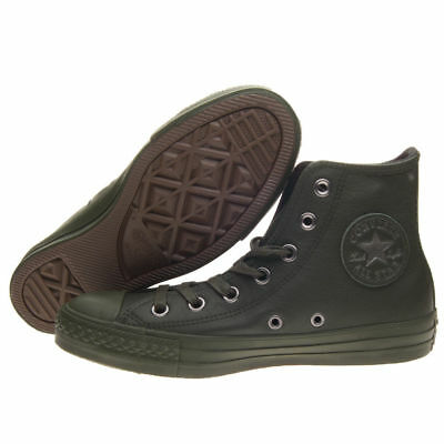 Converse All Star Ctas Hi Pelle Leather Verde Militare 155132C Unisex  Originali 1e155eae0df