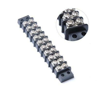 Marine Boat 10 Position 450V 32A Double Row Terminal Block Screw Strip Block 1Pc