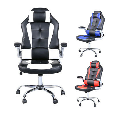 High Back Racing Office Gaming Ergonomic Computer Swivel Chair Balck 3 Colors