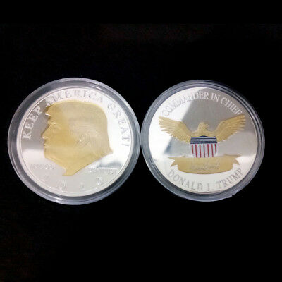 2020 Silver/gold Plated Two-color Trump US President Commemorative Coin New