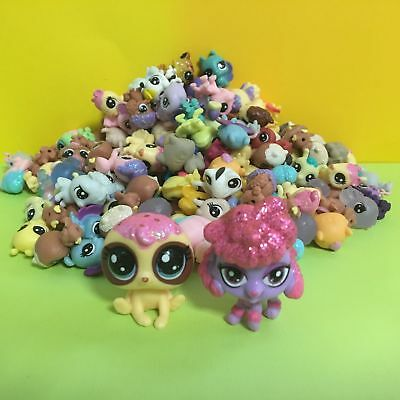 10pcs Littlest Pet Shop LPS Mini Baby Toy Send Random+ Two Dog Figure