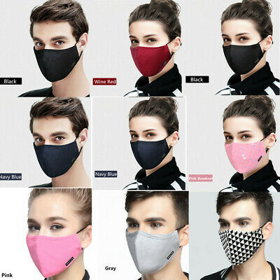Fashion Washable Cotton Anti-dust Face Mouth Mask Breathable Filter Respirator
