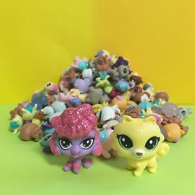 10pcs Littlest Pet Shop LPS Mini Baby Toy Send Random+ Yellow & Red Dog Figure