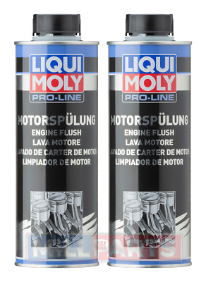 2 X Liqui Moly Pro-Line Engine Flush 500ml Cleans Engines Internally