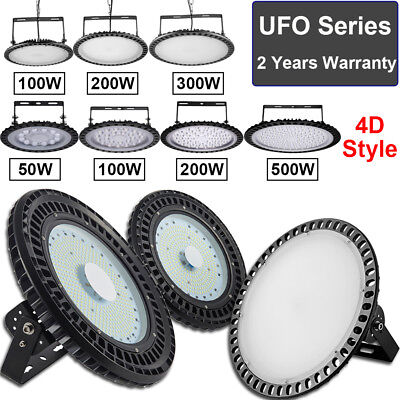 UFO LED High Bay Lights 500W 300W 200W 100W 50W Factory Warehouse Shop Lighting
