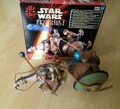 Star Wars Hasbro Spielset Ammo Wagon and Falumpaset Gungan Set Episode 1