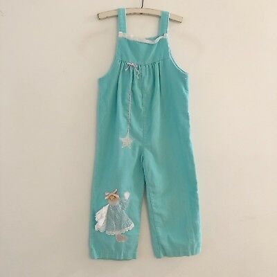 Vintage Pete's Jeans Goodlad Toddler Overalls Blue Cord Angel Size 4T