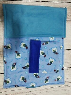 Guinea Pig fleece liner made by ATALAS 100x54cm plus cuddle sack