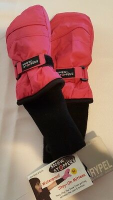 Snow Stoppers Extra Long Cuff Winter Mitts for Kids Med