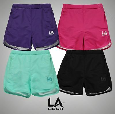 Junior Girls Branded LA Gear Lightweight Woven Shorts Bottoms