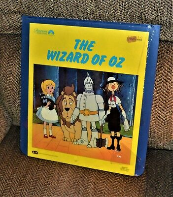 VTG 1983 CED Animated Wizard Of Oz CD2322 Capacitance Electronic Disc Sealed
